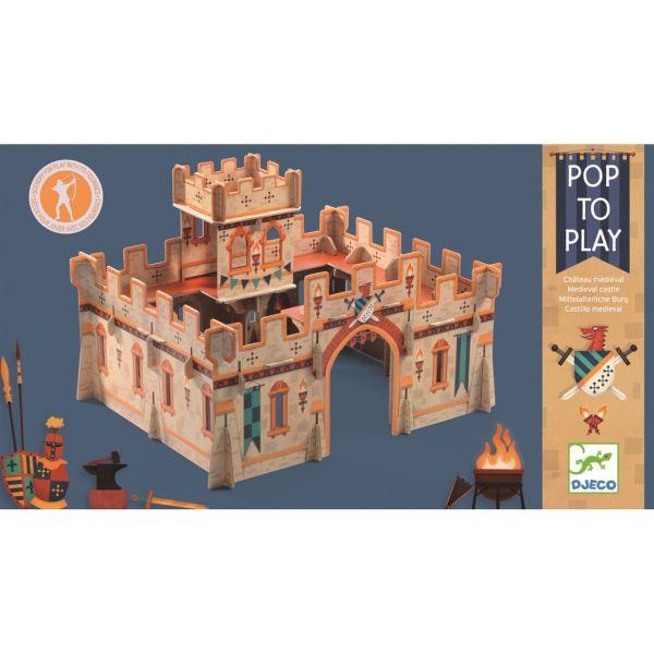"Djeco - Pop To Play Puzzle ""mittelalterliche Burg"""