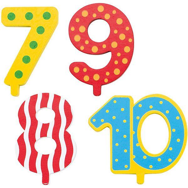 GoKi - Zahlen für Geburtstagszug 7, 8, 9, 10