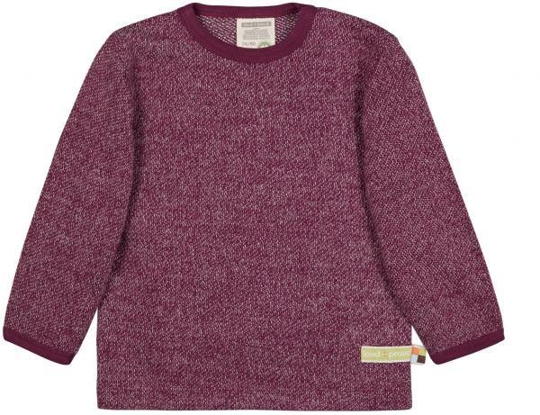loud + proud - Shirt langarm Melange Strick lila