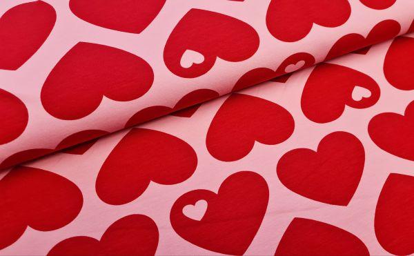 byGraziela - Baumwollsweat Big Heart Me pink