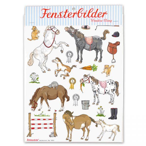 krima & isa - Fensterbilder Pony
