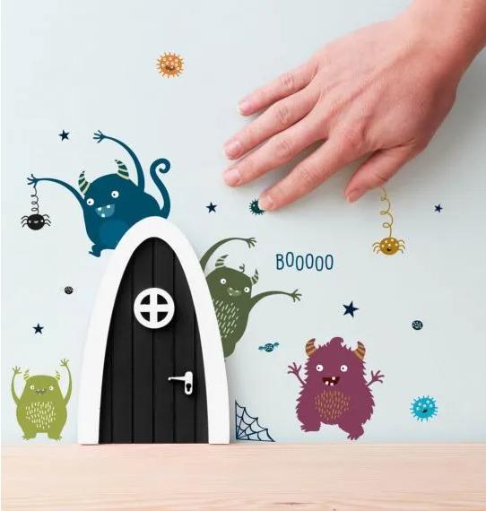 A Little Lovely Company - Monster Wichteltür schwarz