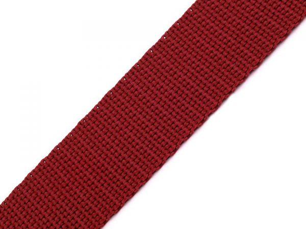 Mama rockt - Gurtband Polyester 25mm bordeaux