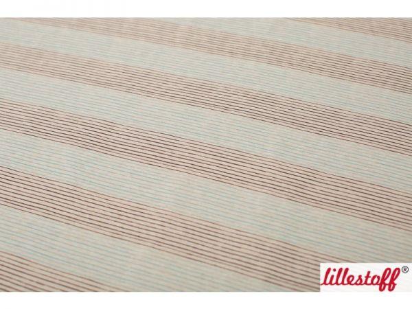 Lillestoff - Mini Streifen braun/türkis