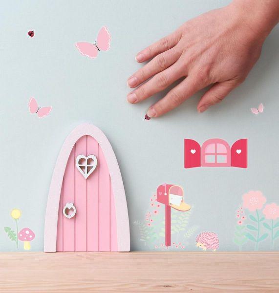 A Little Lovely Company - Elfentürchen / Wichteltür rosa