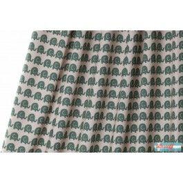 Lillestoff - Elephants, green Jersey